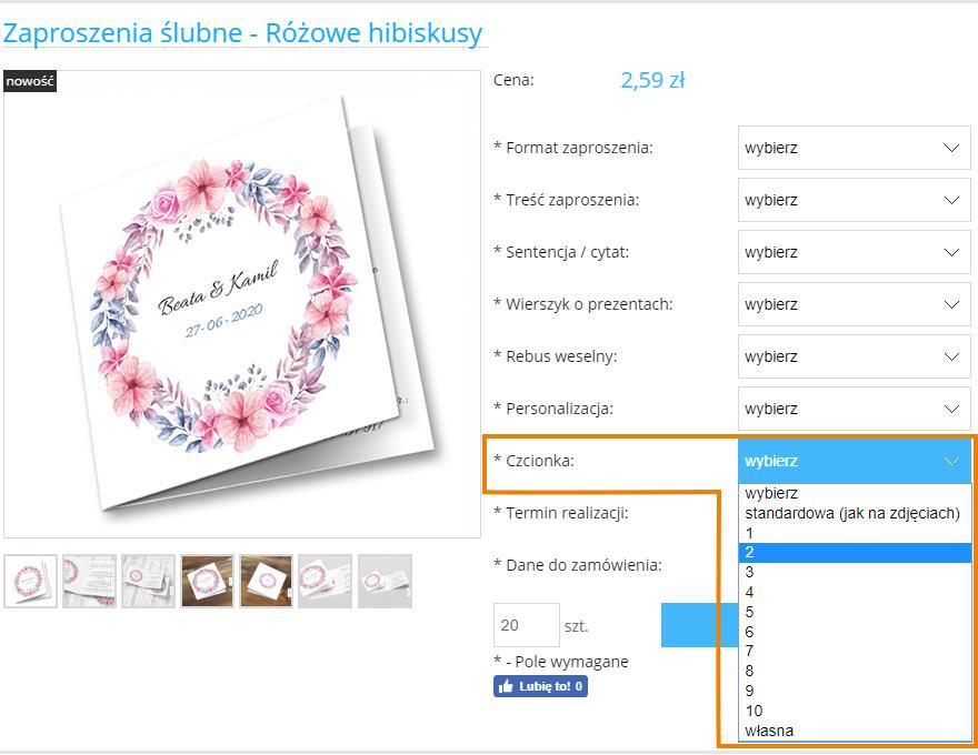 Jak wybrać czcionkę do  zaproszenia ślubnego | Moje Zaproszenia