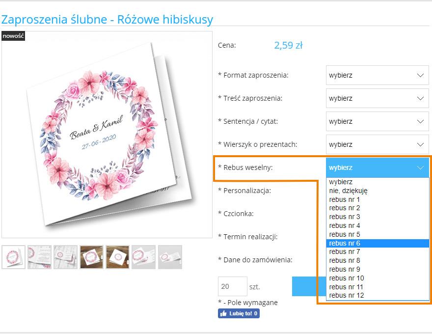 Jak wybrać rebus o prezentach do zaproszenia ślubnego | Moje Zaproszenia